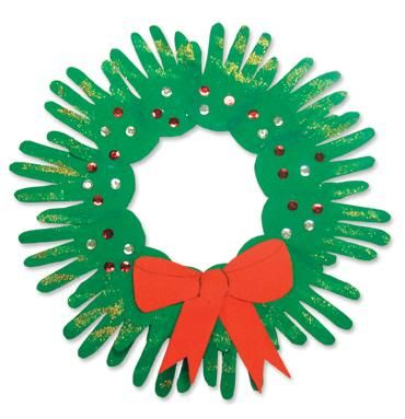 paper hand wreath,Christmas craft