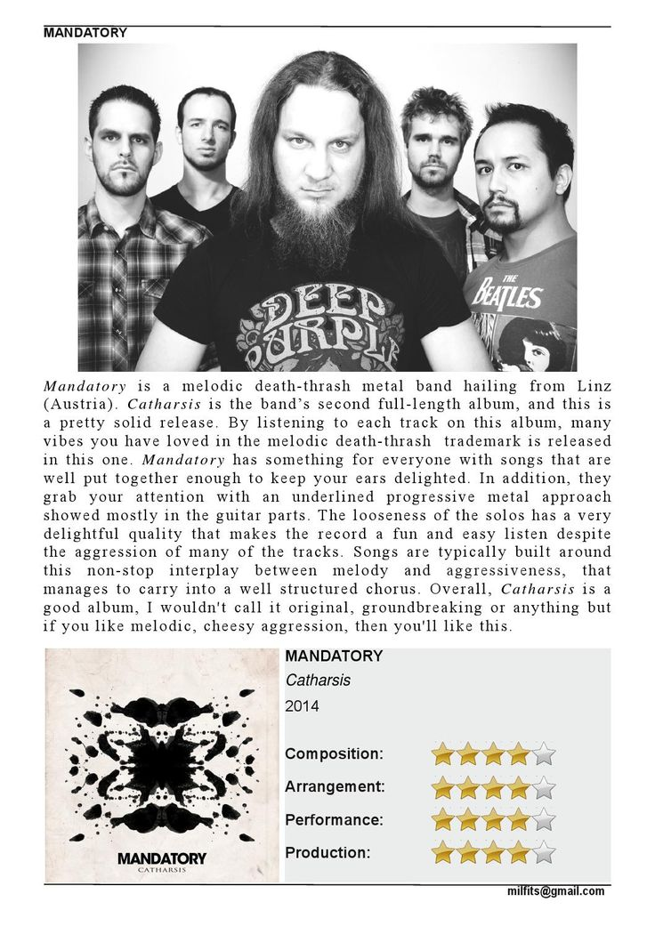 """Mandatory  """"Catharsis"""" Review (Milfits 'zine, issue#3)"""