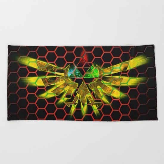 Zelda Triforce Beach Towel