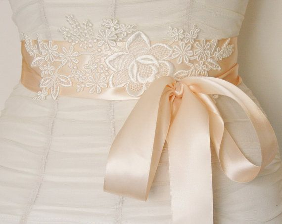 Bridal Sash Lace Wedding Belt By Fanciestrands 48 00