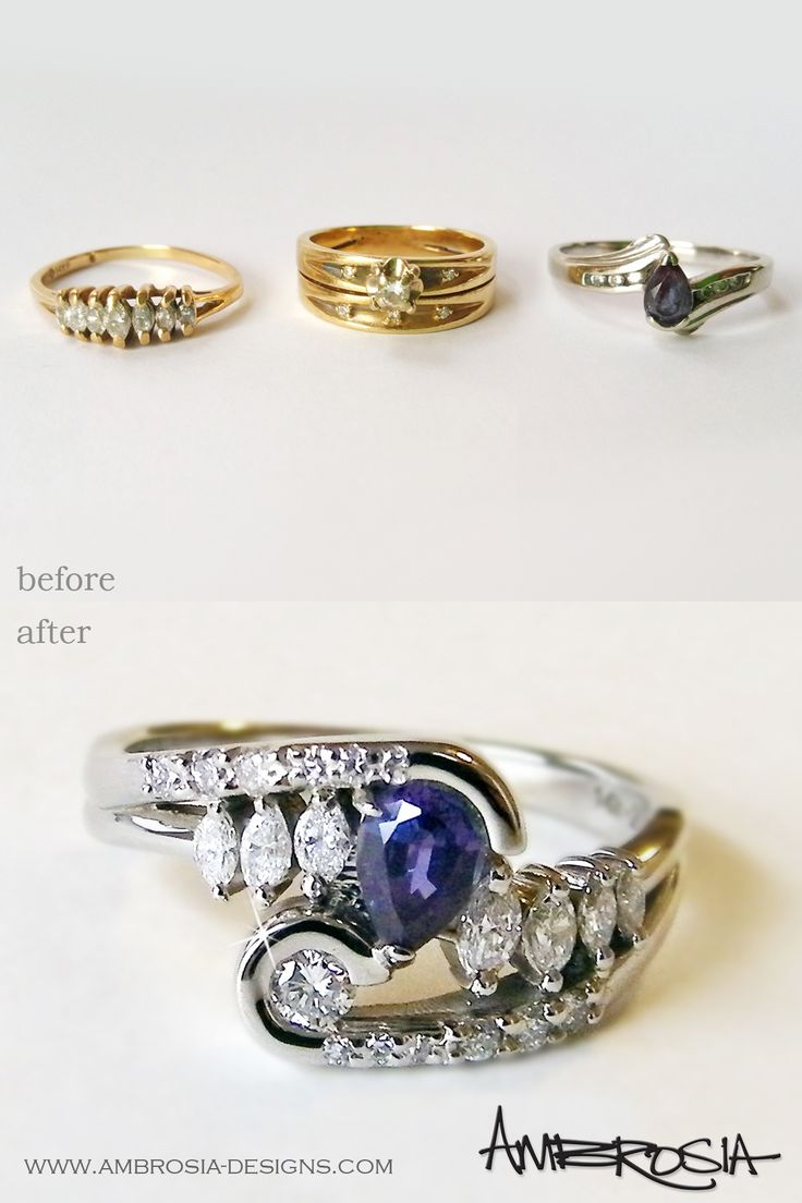 This Unique And Artistic Ring Was Redesigned From Three Rings (two Diamond  Rings Were Her