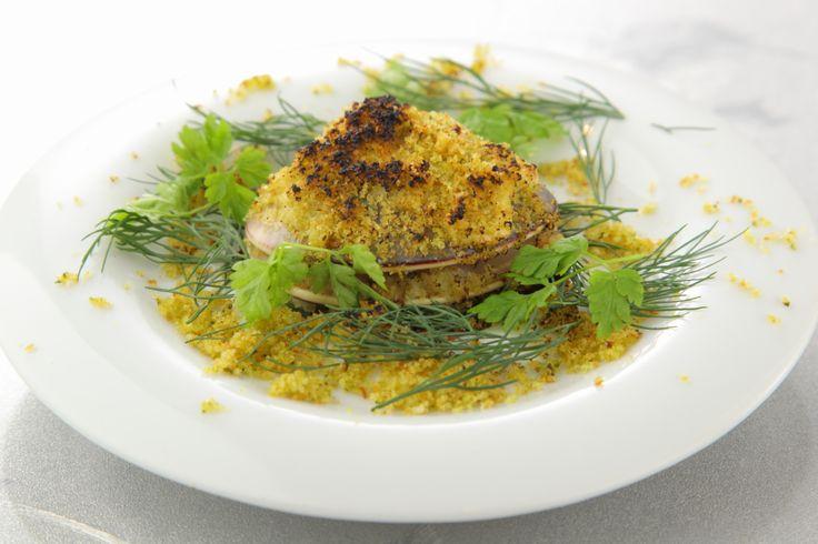 〈前菜小皿〉蛤の香草パン粉焼き