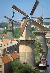 The worlds biggest windmills in Schiedam The Netherlands