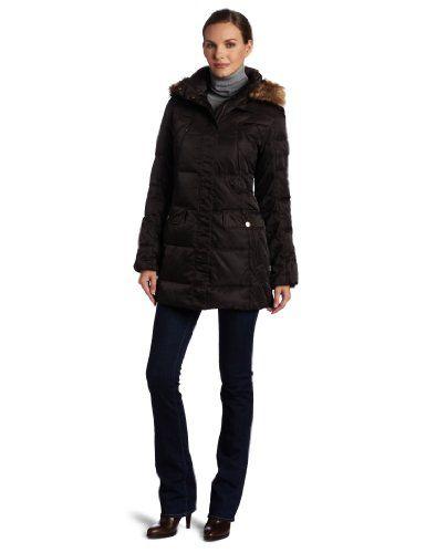 Jones New York Women`s Belted Down Coat