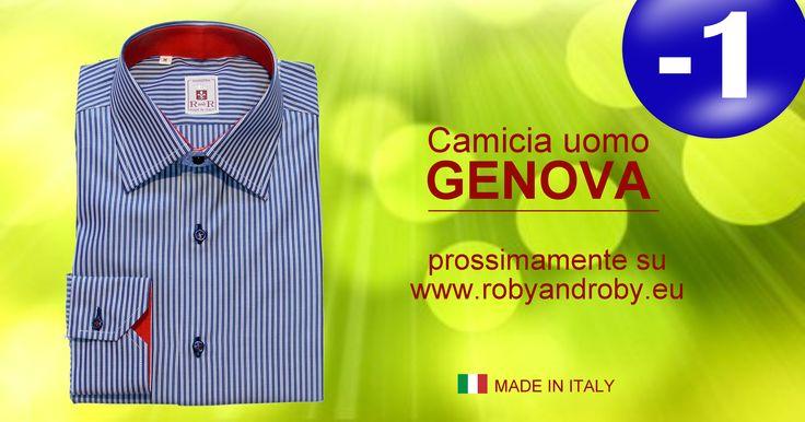 Camicia uomo GENOVA prossimamente su www.robyandroby.eu