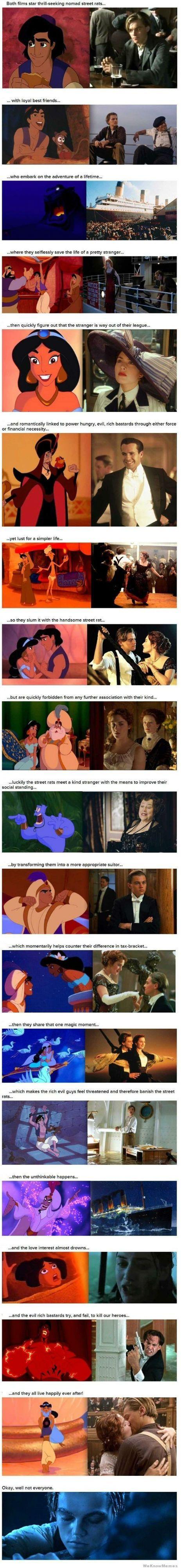 18 reasons aladdin and titanic are the same movie