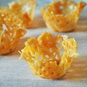 Cestas de queso parmesano