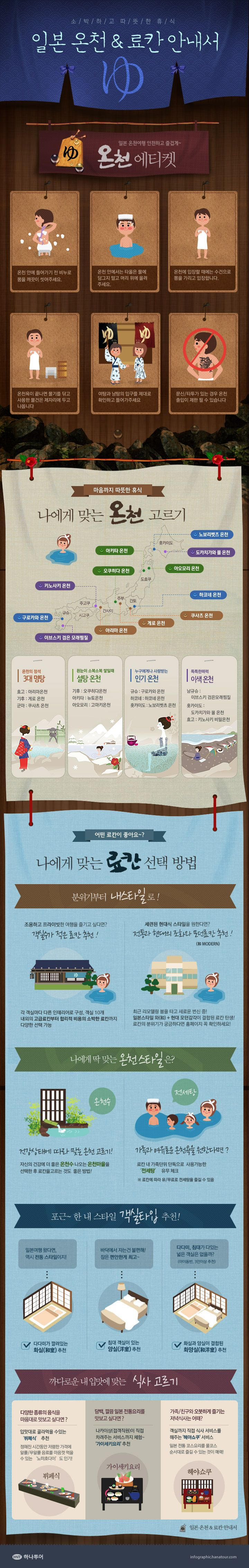 마음까지 따뜻한 휴식, 일본 온천&료칸 안내서에 관한 인포그래픽 // Hi Friends, look what I just found on #web #design! Make sure to follow us @moirestudiosjkt to see more pins like this | Moire Studios is a thriving website and graphic design studio based in Jakarta, Indonesia.