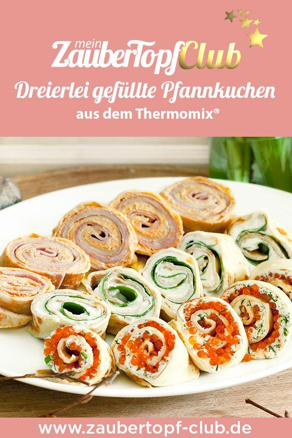 Perfekt für den Osterbrunch: drei gefüllte Pfannkuchen    – Thermomix