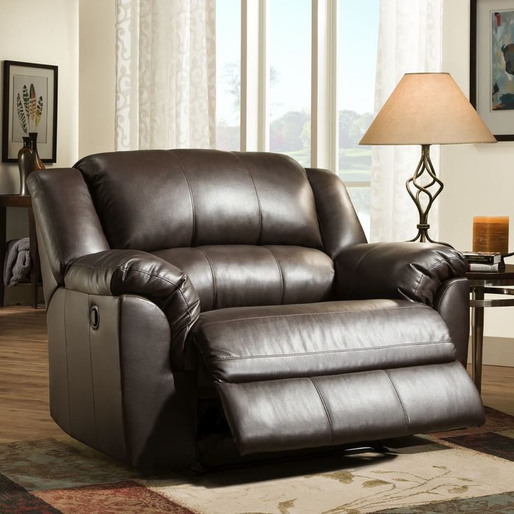 Latitude Run Simmons Upholstery Jacqueline Cuddler Recliner. Latitude Run cuddler recliner with extra wide seating area for enhanced comfort. Pub back cushion, pillow top arms, and a fully padded chaise. Covered in a smooth, soft face faux leather with rich dark brown tones.