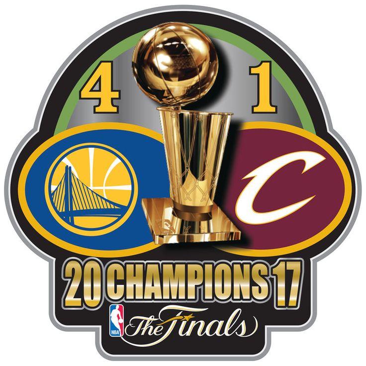 Golden State Warriors 2017 NBA Finals Champions Score Pin
