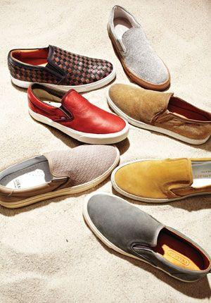Slip-on sneakers.