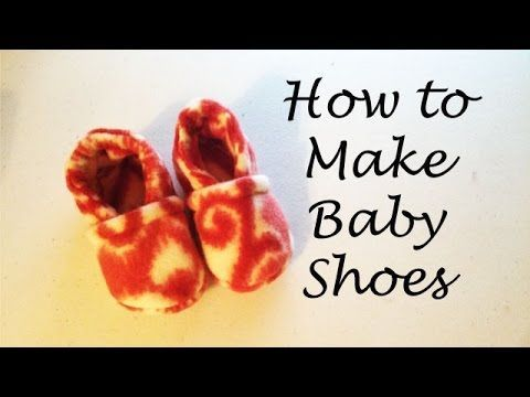 How to Make Baby Shoes - YouTube