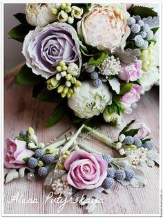 Цветы в волосы ручной работы - бледно-розовый, цветы ручной работы, цветы из фоамирана