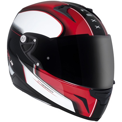 Nexx XR1R Motion Red/White motorcycle helmet, available from ForMotorbikes.com with FREE UK delivery and worldwide shipping.