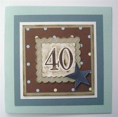 40th Male Birthday Card