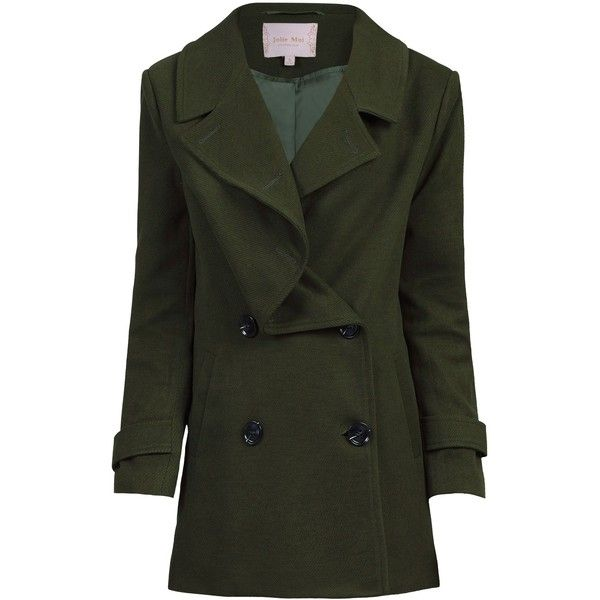 Jolie Moi Jolie Moi Asymmetric Front Coat ($80) ❤ liked on Polyvore featuring outerwear, coats, sale women coats & jackets, lapel coat, drapey coat, double breasted military coat, waterproof coat and drape coat