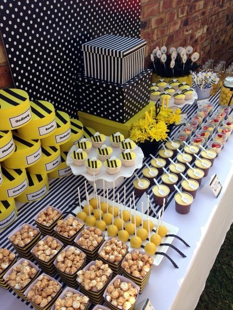 Black And Yellow Party Food Google Search Yellow Party