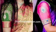blouse designs for wedding sarees
