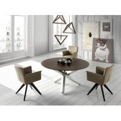 Table ronde design Huesca ATYLIA