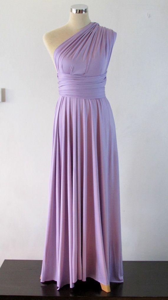 Full length Convertible Dress in lavender light | Etsy