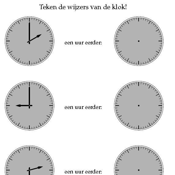 klokkijken hele en halve uren - Tijd | Pinterest - Zoeken ...