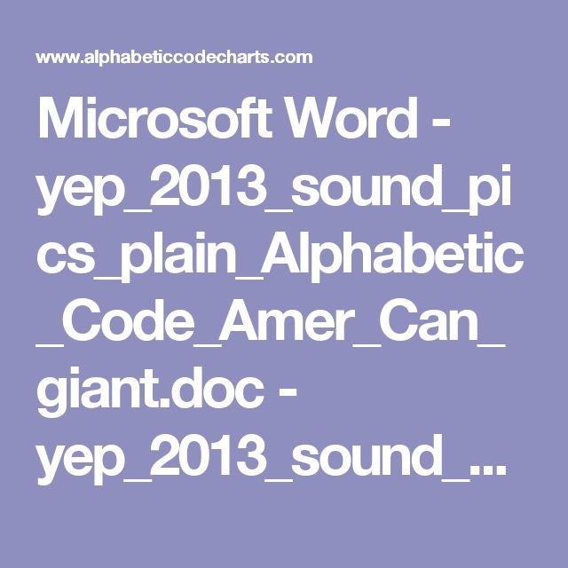 Microsoft Word - yep_2013_sound_pics_plain_Alphabetic_Code_Amer_Can_giant.doc - yep_2013_sound_pics_plain_Alphabetic_Code_Amer_Can_giant.pdf