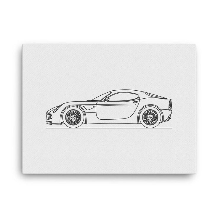 Alfa 8C Minimal Line Art (canvas)