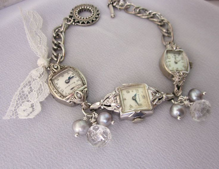 45 Best Images About Vintage Watch Repurposed Jewelry On