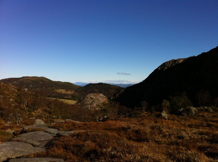Great natural views to be admired along the many hiking trails in the Stavanger Region.  Name the place!