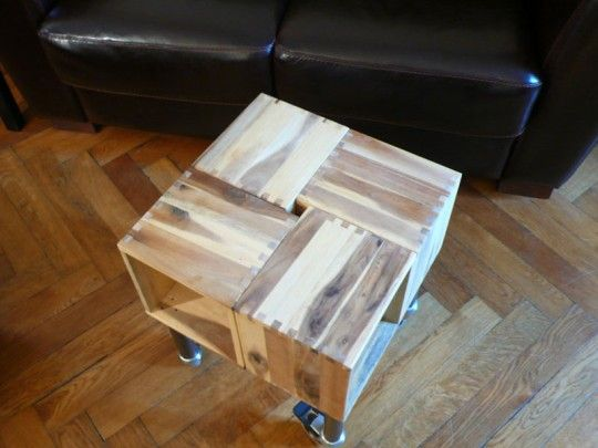 Build Your Own IKEA Planter Laptop Table on Casters
