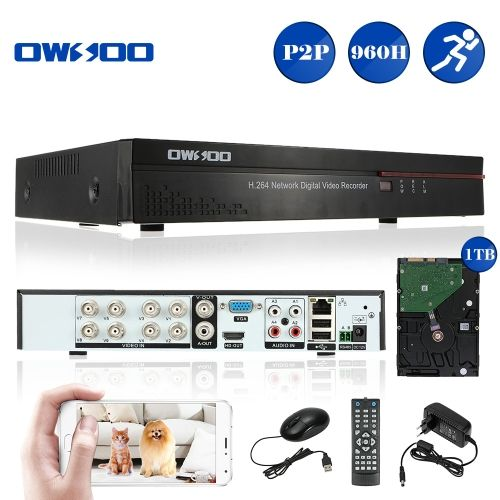 OWSOO 8CH Full 960H/D1 H.264 P2P Network DVR CCTV Security Phone Control Motion Detection Email Alarm for Surveillance Camera