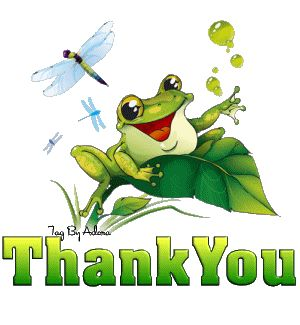 Frogs Dragonfly Thanks Gif, Animal Gif, Agradecimiento Gifs. thank you clip art ...