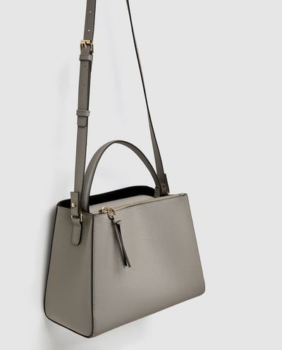 1d3b5d0523 MEDIUM TOTE BAG WITH ZIP from Zara | Style is eternal in 2019 | Bags ...