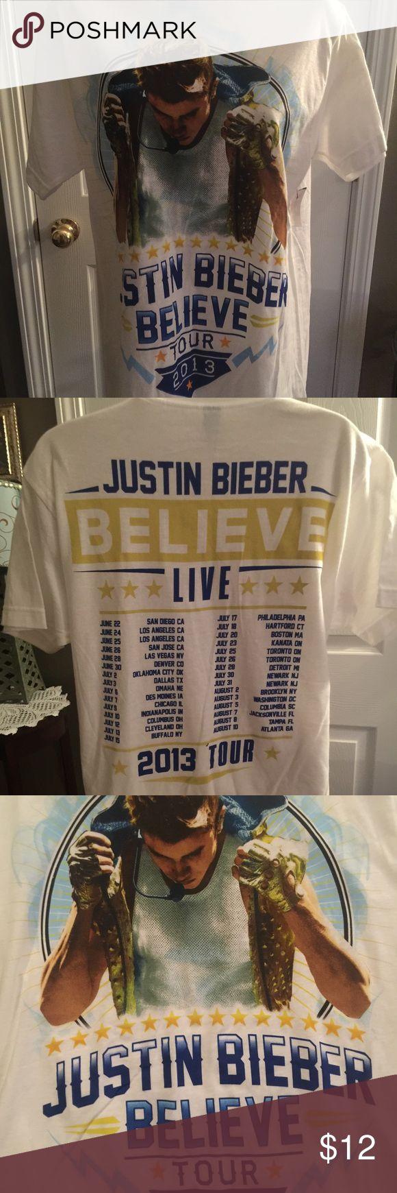 Justin Bieber 2013 Believe tour shirt New Justin Beiber tour shirt Tops Tees - Short Sleeve
