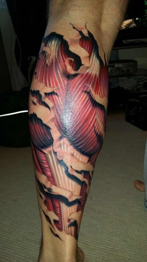 Muscle Tattoo Sleeve: 22 Best Calf Muscle Tattoo Designs Images On Pinterest