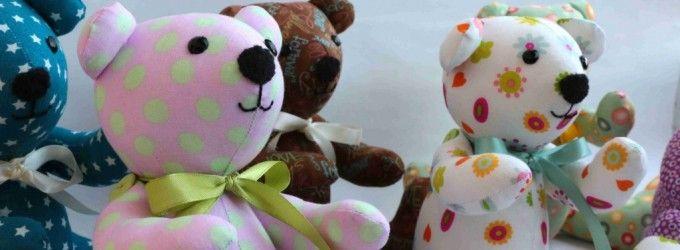 Ako ušiť medvedíka - balíček - Kreatívne šitie