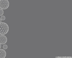 Globe Gear Powerpoint Templates with gray background