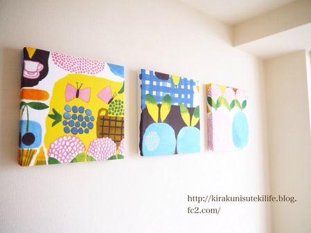 玄関にKesatoriblueの3連パネル | Kirakuni-Sutekilife ~マンションで北欧インテリアなお部屋を目指して~