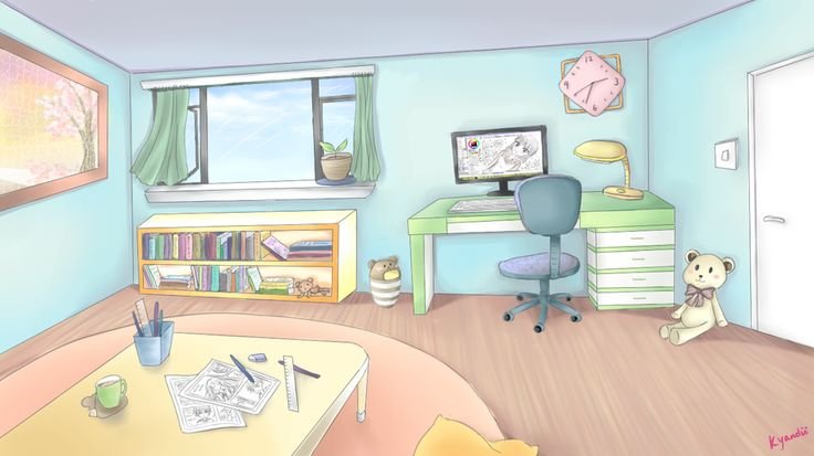 Anime bedroom google search comic ref pinterest for Anime bedroom ideas