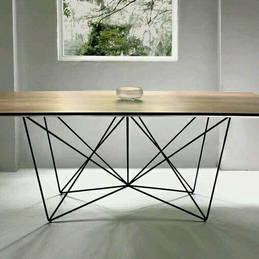 Mesa de diseño.nueva.hierro y madera. - 106030946 - Muebles, Deco y Jardín
