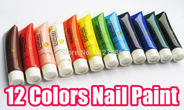 12 Цветов 3D Nail Art Краска Трубка Draw работа Acrylic Nail Art Совет УФ-Гель Рисование Советы