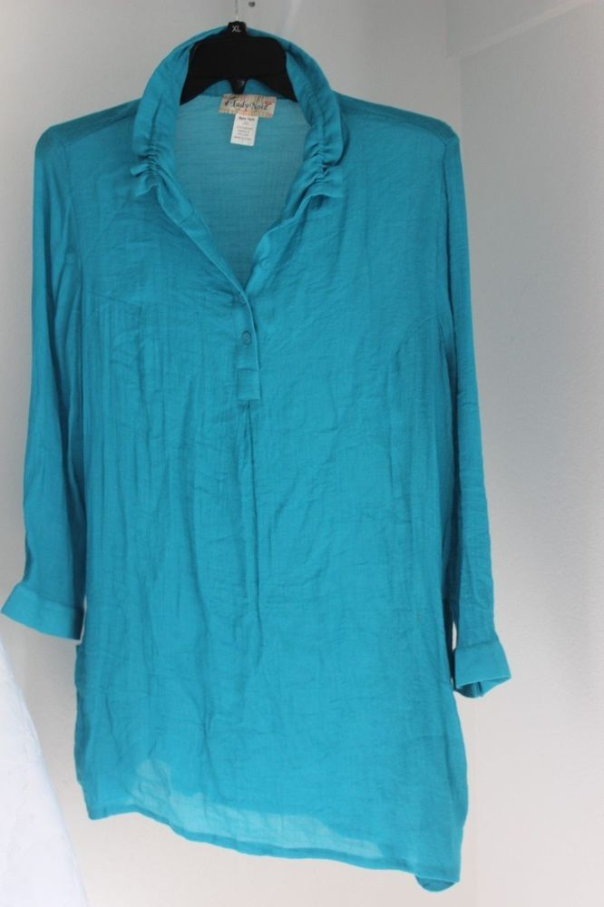 Lady Nioz Turquoise Shirt / dress Looks great with leggins 2XL #LadyNoiz #Tank #Casual