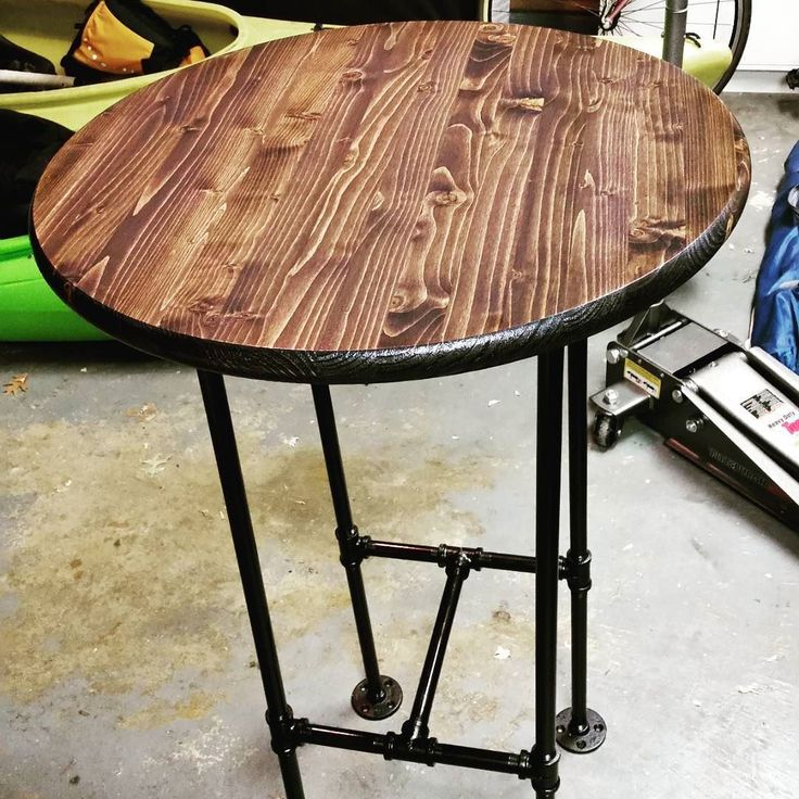 Dart room high top table is almost done. #diy #pipefurniture by bdicillo