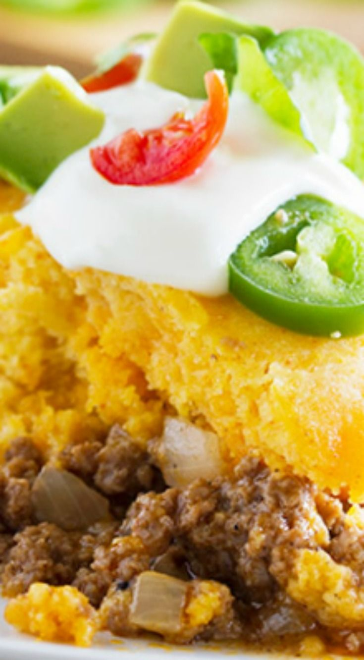 Weeknight Tamale Pie ~ Warm and comforting and super easy... And it's a bonus that it's all made in one skillet!