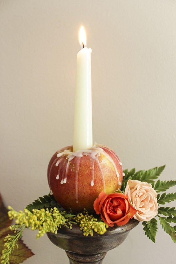 Apple candle holder. Sigh...fall! #livelifesimply #iheartfall #fallthings