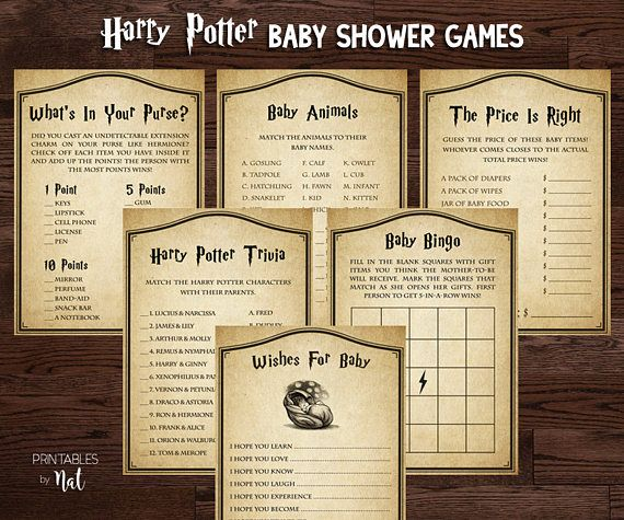 harry potter baby shower games activities wishes for baby trivia