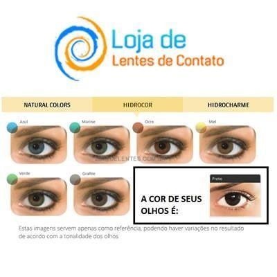 lentes de contato solótica hidrocor (anual) + estojo