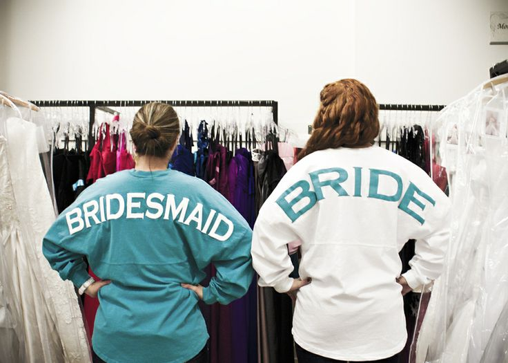 Monogrammed Bridesmaids Spirit Football Jersey