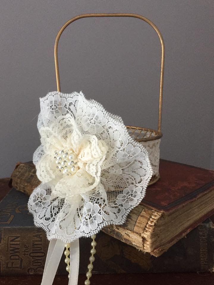 Little wire flower girl baskets